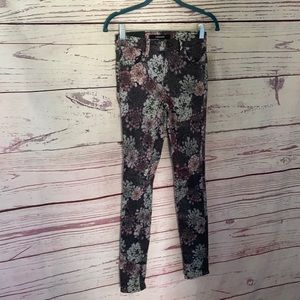 J Brand mid rise super skinny floral jeans NWT